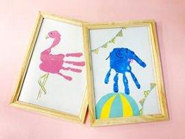 親子で手形アート