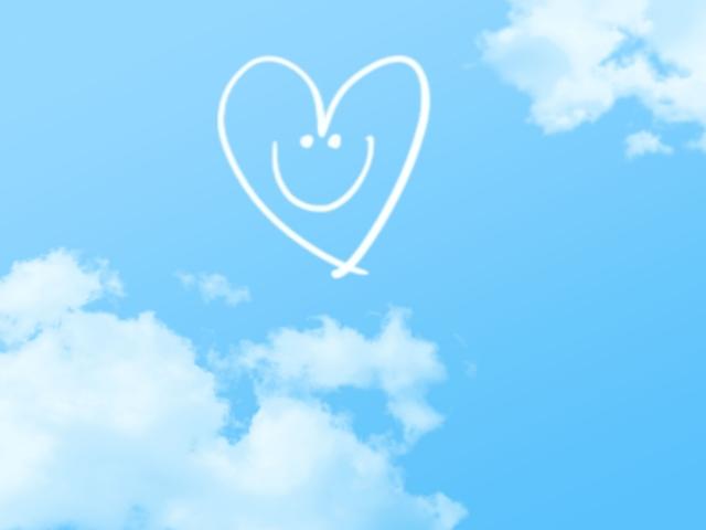 青空に子供の笑顔