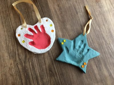 ワクワクヴィレッタ~はじめてのDIY 紙粘土で手形プレートを作ろう~